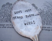 Weed vintage garden spoon marker