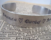Family Names Personalized Cuff Loved Ones Bracelet