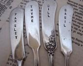 Herb Vintage Knife Garden Markers - Set 4