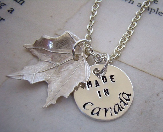 Made in Canada Maple Leaf necklace II
