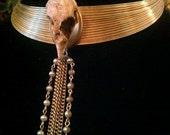 Through the Veil, Resin Skull Necklace