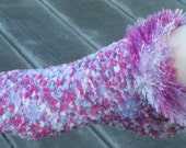 Dotted Pink and Purple Knit Socks