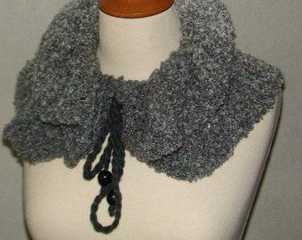 Neck Warmer/ Scarf Grey Shades Ruffled Winter Autumn SALE