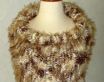 Chunky Cowl/ Shoulder Warmer Extra Soft Brown Shades SALE