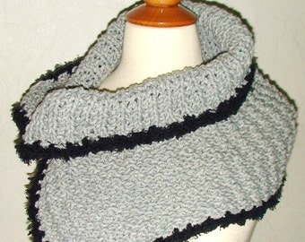 CLEARANCE Cowl/ Wrap/ Shoulder Warmer in Light Grey