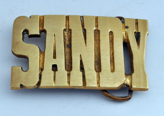 RESERVED for Anna - Do Not Purchase -SANDY Vintage Belt Buckle