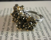 SALE Pyrite Beaded Ring RESERVED FOR NAT