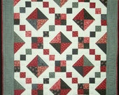 Red Black Jewel Box Baby Quilt