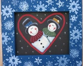 Pair of Snowman, Tole Painting Pattern, Winter Time,Decorative Painting, DIY, Instructional Painting Pattern, Snowmen and Snowflakes