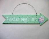 Green Arrow Sign for Easter Egg Hunt