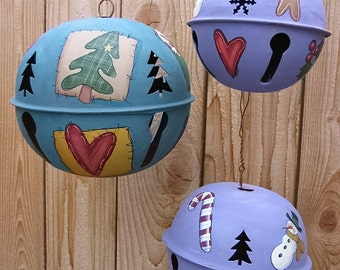Jingle Bell, Christmas, Tole Painting Pattern, DIY, Instructional Pattern, Christmas Bells, Snowman, Candy Cane, Hearts Stars, Green Tree