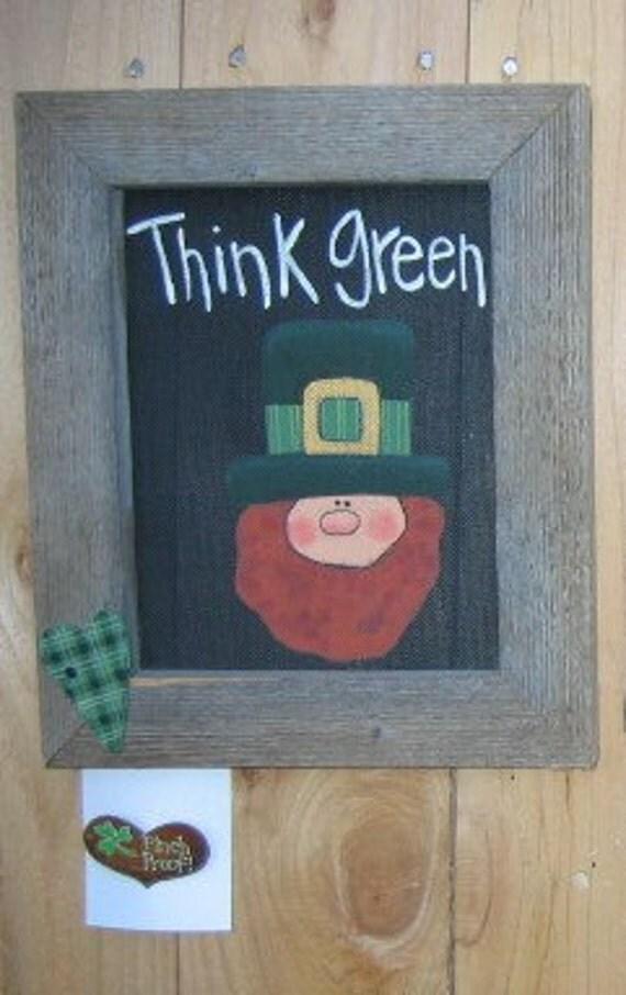 Tole painting pattern thinkin 39 green sign leprechaun and - Painting tool avis ...