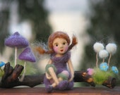 Needle felted forest fairy waldorf inspired