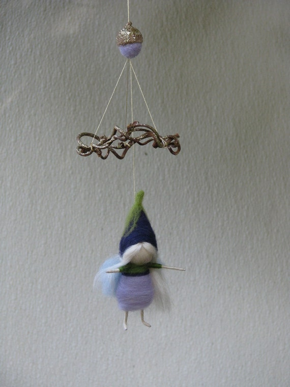 A fairy decoration, needle felted