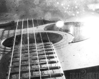 TTV Acoustic Guitar 5x7 Inch Photographic Print