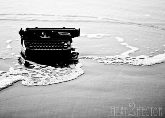 Typing on Jetsam - At the Water's Edge 5x7 Inch Photographic Print