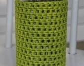 Pint and Half Mason Jar Cozy in Lime Green