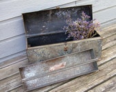 Cool Old Rounded Top Tool Box - Huge and 18 lbs. Heavy