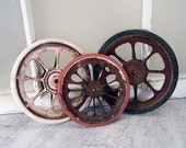 Vintage Baby Doll Carriage Wheels - Collection of Three