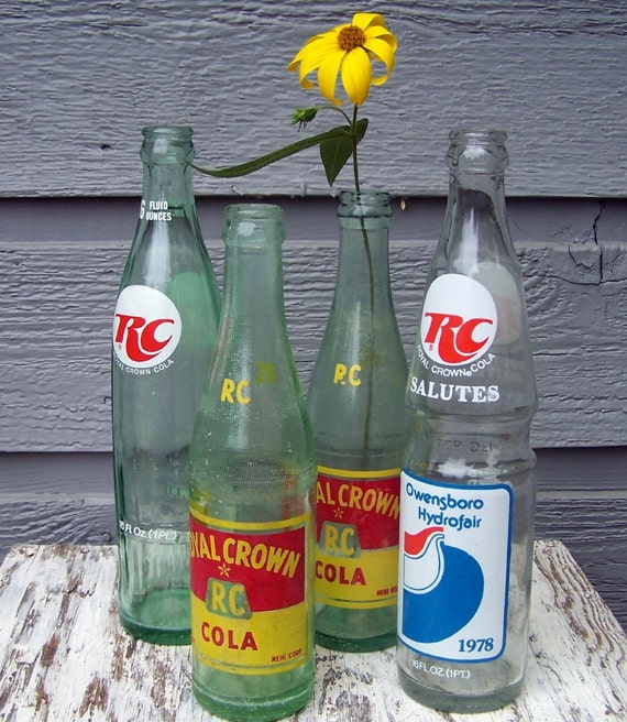 Vintage Royal Crown Soda Pop Bottle Collection By