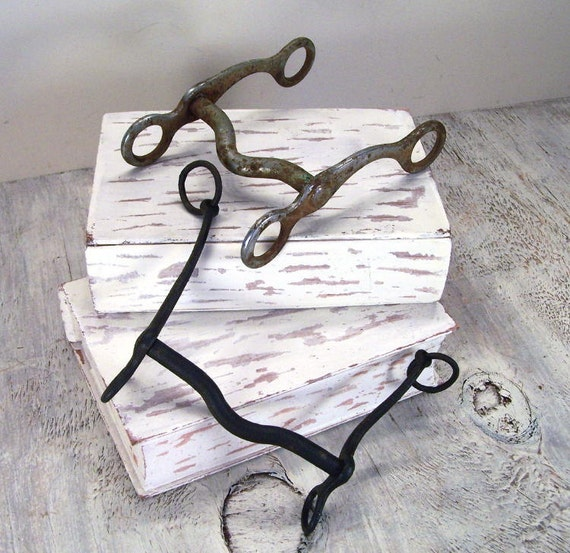 Two Vintage Horse Bits - equestrian tack - Sale