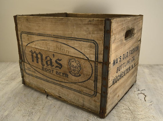 Ma's Root Beer Wooden Crate
