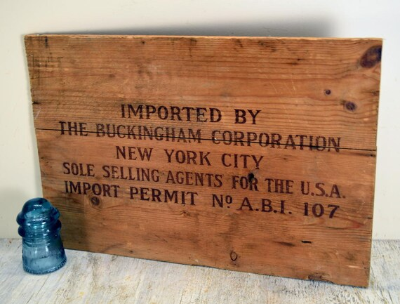 Import Side Panel From Shipping Crate From The Buckingham Corporation