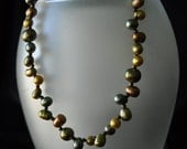 AUTUMN. Freshwater Pearl Necklace and Bracelet by Gr8Findings on Etsy
