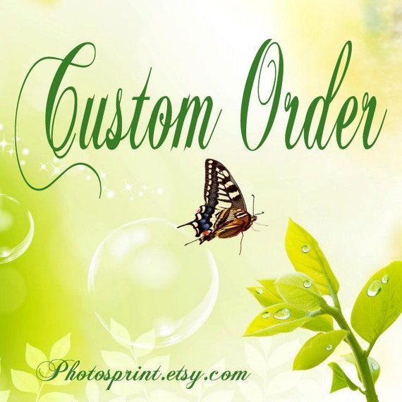 Custom order for Wendy