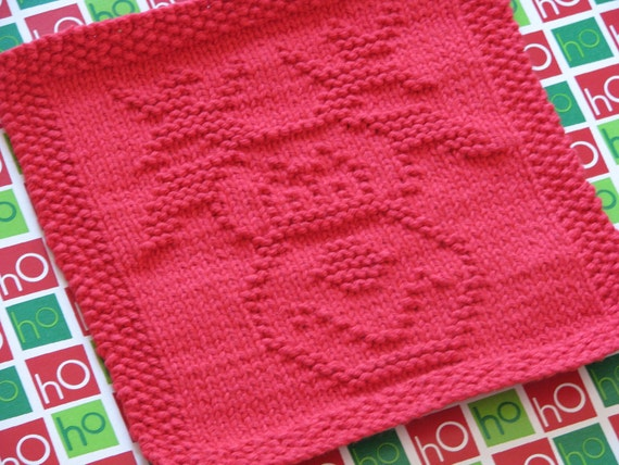 Rudolph Knitting Pattern : Rudolph the Cutest Reindeer Knit Dishcloth by OSewSweetBoutique