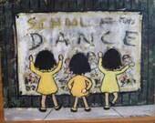 Vintage Dance School Wall Art Flavia 1969