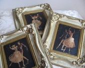 Vintage Ballet Dancers Wall Art Prints Set of 3 Ballerina Dance Mid Century RARE