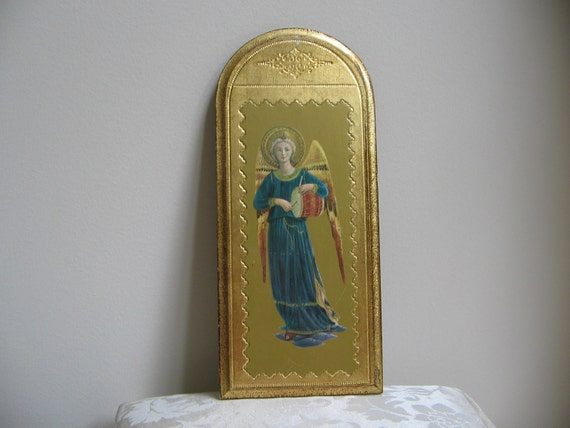 Vintage Angel Playing Drum Fra Angelico Italian Renaissance Wall Art