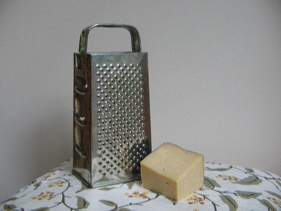 Vintage Bromco Grater Shredder Metal Cheese Vegetable Four Sided