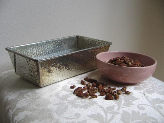 Vintage Bake King Loaf Pan Metal Textured Industrial