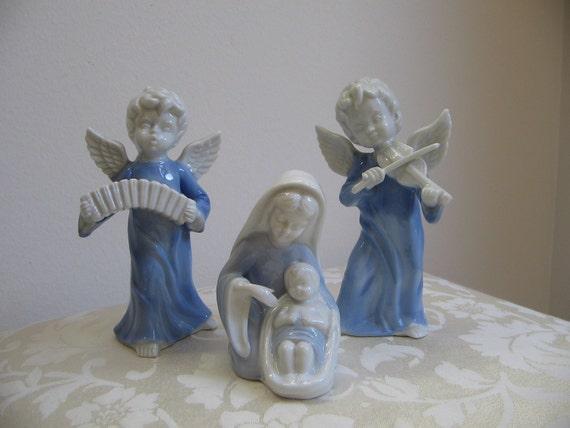 Sale Vintage Angels Madonna Baby Jesus By Vintagenowandthen