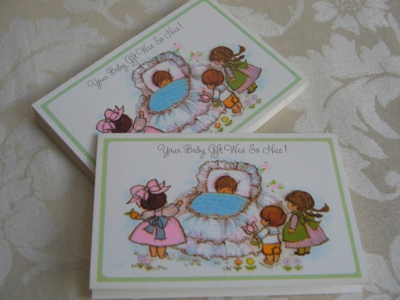 Hallmark Baby Thank You Cards Vintage, Set of 13 DARLING