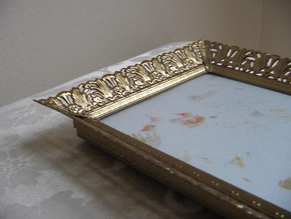 Vintage Gold Filigree Picture Frame Ornate GLAM