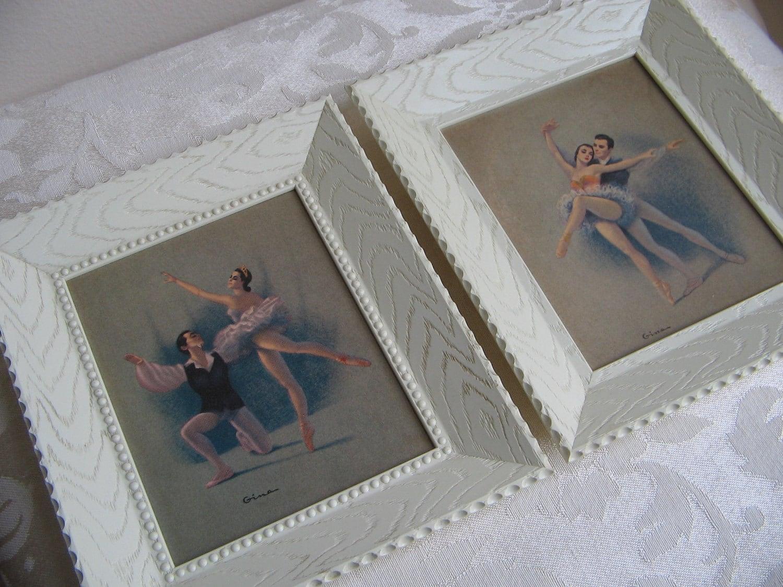 Vintage Ballerina Wall Art Prints By Gina Ballet Dancers Pas