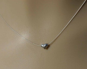 Sterling Petite Heart Charm Necklace - With A Little Love By Inspired Jewelry Designs