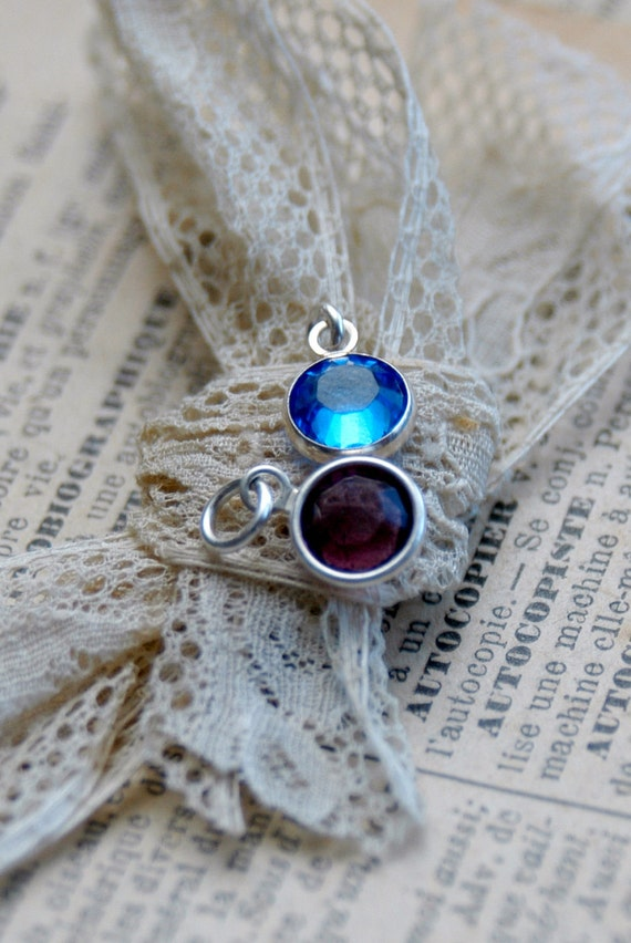 Add A Birthstone Channel Set Swarovski Charm - Add On To Your Current Necklace Or Bracelet By Inspired Jewelry Designs