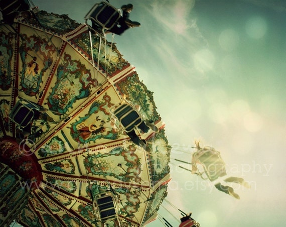 Carnival Photography - Nursery Decor - Swing - Fine Art Photography Print