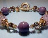 Pale Pink Venetian Bead Bracelet