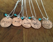 Personalized penny necklace