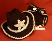 Cowboy Hat and Diaper Cover - pick your color