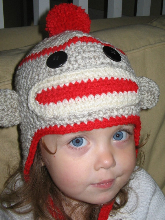Monkey Earflap Hat