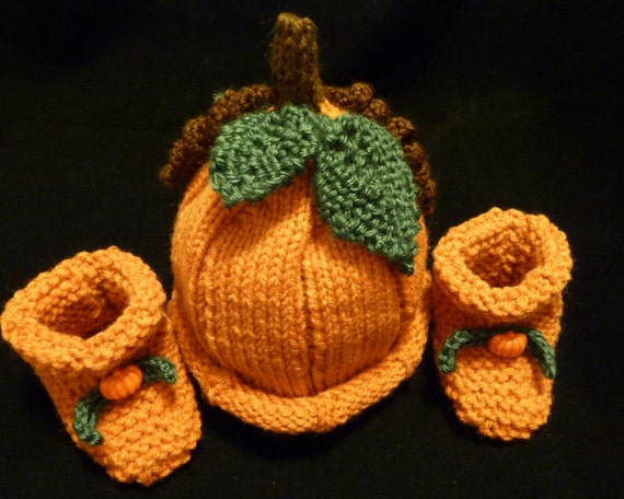 Pumpkin Hat and Booties