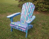 Folk Art painted Adirondack Chair