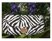 Clutch Handbag - The Audrey Clutch in a Stunning & Lovely Brown Zebra Print