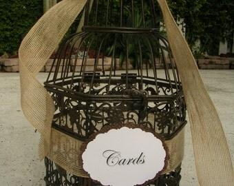 Birdcage Wedding Card or Wedding Wishes